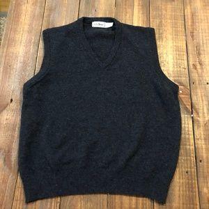 L.L. Bean Mens 100% Lambswool Sweater Vest Size L